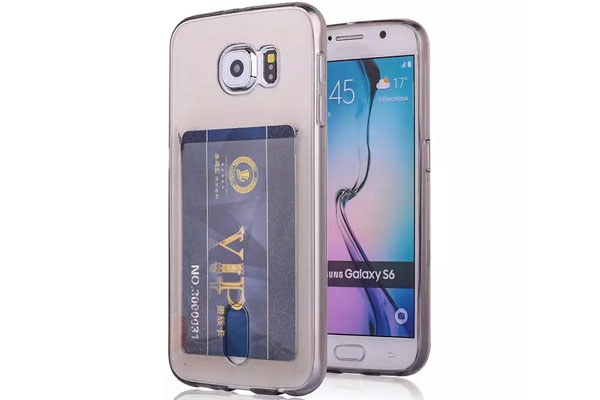 Credit card clear tpu cover for Galaxy S6 S6 edge and other phones