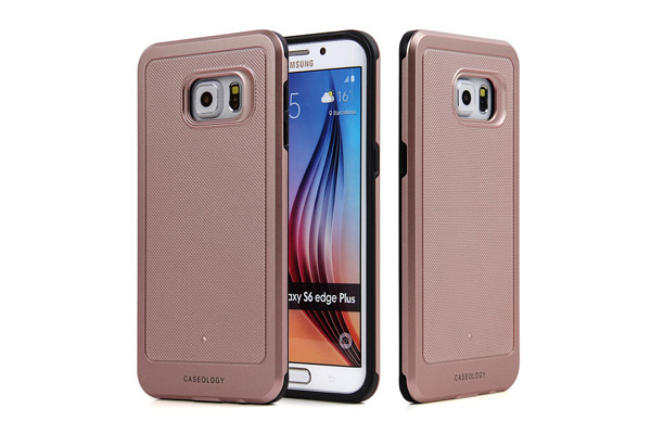 Samsung S6 edge plus rose gold hard protective case