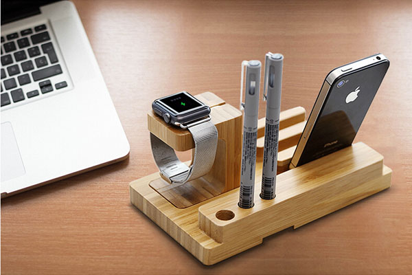 4 in 1 universal wood holder for mobile phone and tablet