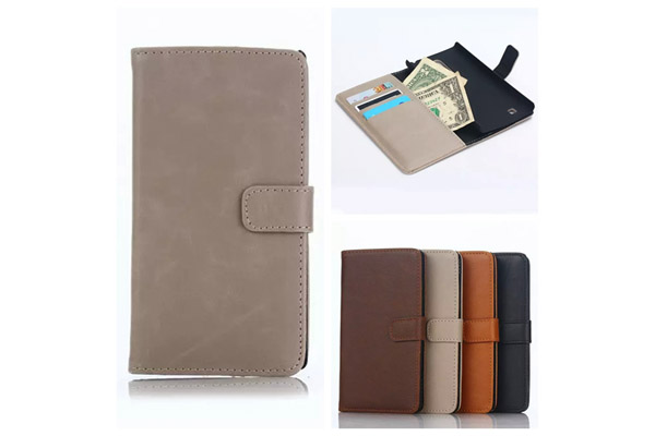 LG G4C luxury wallet leather case
