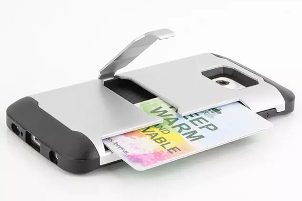 High capacity credit card pocket stand hard case