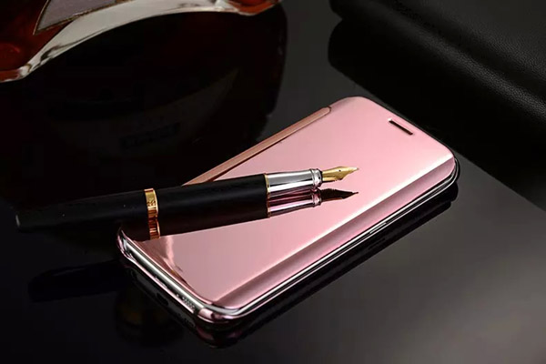 Rose mirror smart folio cover for Apple and Samsung phones
