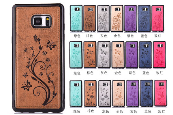 Samsung Note 7  soft flower leather back cover