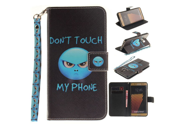Cartoon printing leather cover for Samsung
