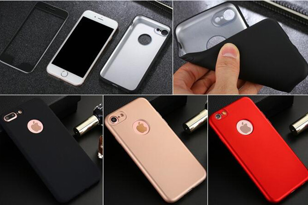 360 full cover rubberized soft case