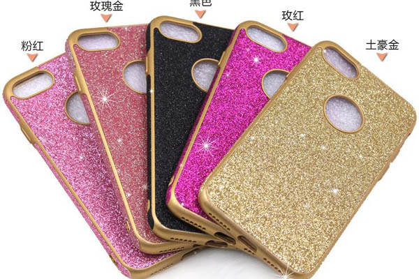 Glitter PU TPU soft cover