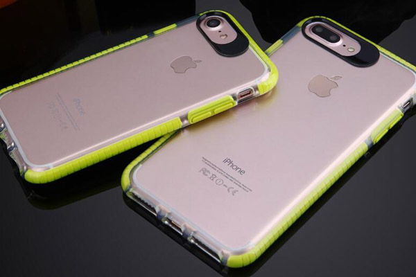 Two color transparent TPU cover