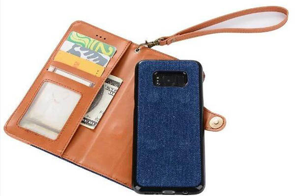 Galaxy S8 S8 plus separable 2 in 1 leather cover