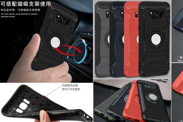 Finger ring car holder rugged case