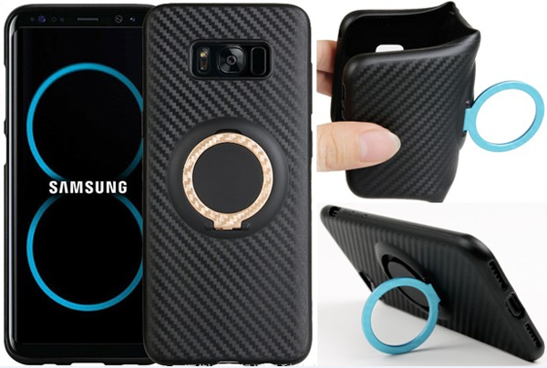 Carbon fiber finger ring car holder case