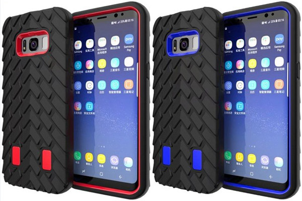 Tire style rugged shockproof case