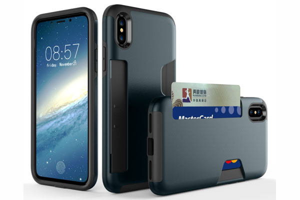 iPhone X hybrid card slot ligt duty case