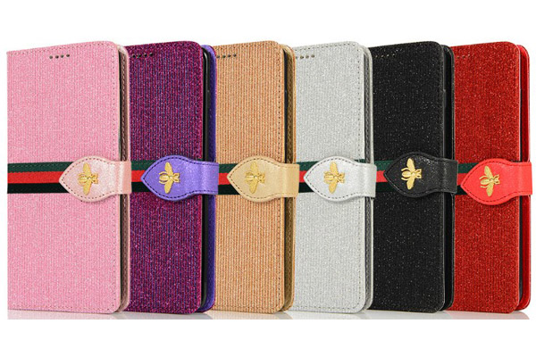 Luxury Bling Wallet Cover with Honeybee Buckle