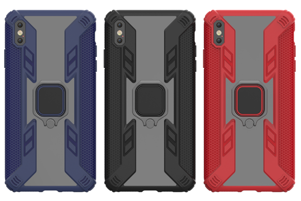Predator Hybrid Case With 360 Rotation Finger Ring and Car Holder Function