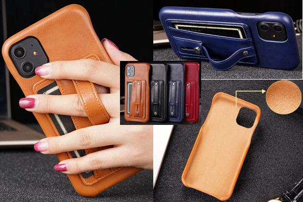 Finger Strap Leather Back Cover