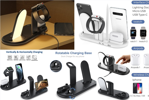 7 IN 1 Multi-Function Wireless Charger Dock